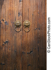 Chinese wooden door