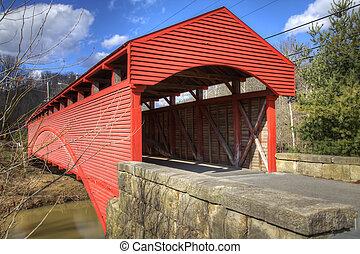 Covered Bridge - Central West Virginia covered Bridge