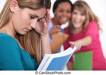 Teenage girl being bullied