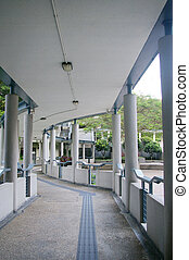 Modern walkway in school