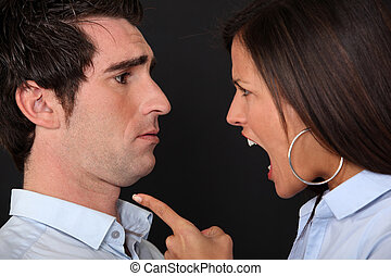 couple having a quarrel