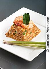Thai Style Shrimp Fried Rice - A Thai dish of shrimp fried...