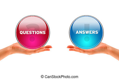 Questions and Answers - Hands holding a Questions and...