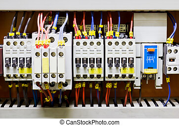 Control panel4 - Control panel with circuit-breakers (fuse)