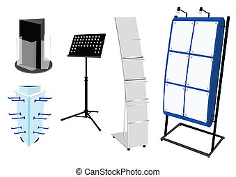 Blank Promotion Stand set. Vector template