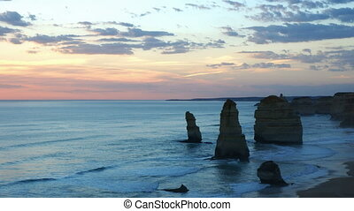 Twelve Apostles - Port Campbell NP, Australia, time-lapse