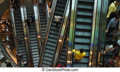 Escalators - top view