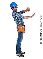 carpenter gesturing