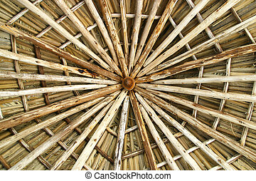 Wooden roof construction - a wooden roof construction for a...