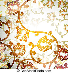Vintage Floral Abstract Background