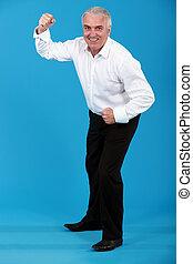 man in a suit dancing
