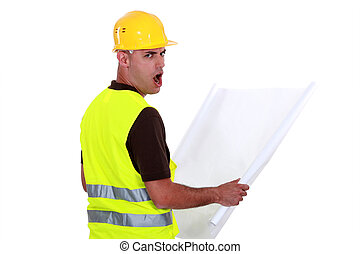Worker open mouthed in disbelief