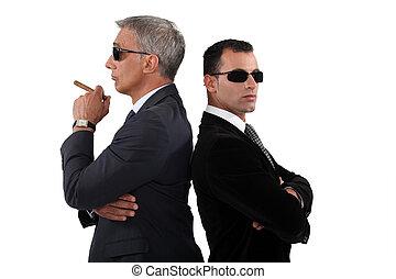 Cocky men in smart suit
