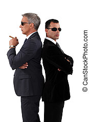 Businessman wearing suits and sunglasses