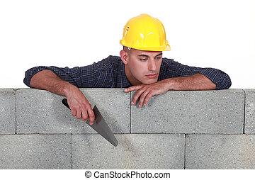 A bored mason.