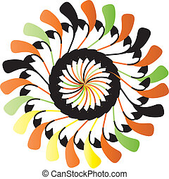 Spinner vector - spinner with different colours