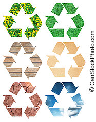 Conceptual recycling sign of nature