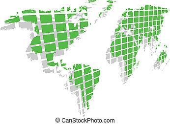 the vector green world map