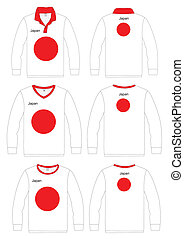 Shirt Long-sleeved japan Flag - Long-sleeved sport shirt...