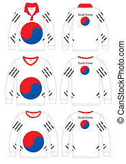Shirt Long-sleeved Korea Flag - Long-sleeved sport shirt...