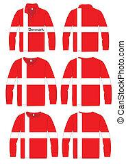 Shirt Long-sleeved Denmark Flag