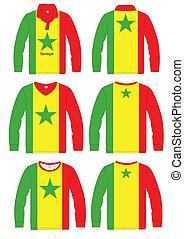 Shirt Long-sleeved Flag Senegal