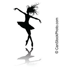 the vector ballet dancers silhouette