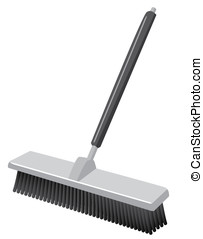 Push Broom Such as in a Warehouse - A push broom! Such as...