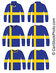 Shirt Long-sleeved Flag Sweden - Shirt Long-sleeved sport in...