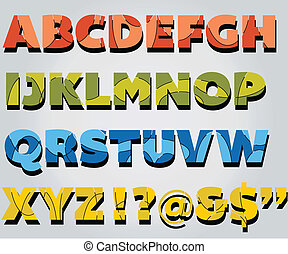 Abstract pattern Alphabet - An abstract patterned capitals...