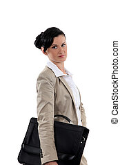 Woman with a briefcase