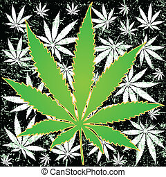 Marijuana background - Illustration of marijuana leaves as a...