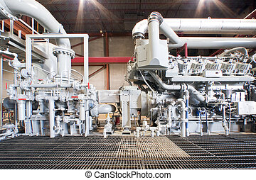Compressor - Large industrial compressor station