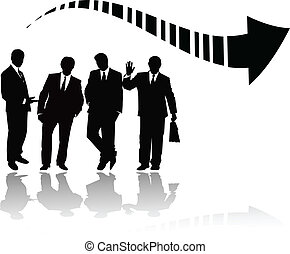 the vector business silhouette