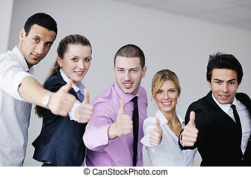 Group of young business people at meeting - Group of young...