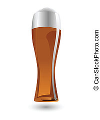 the vector glass of beer
