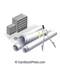 Building project clip art - Engineering and architecture...