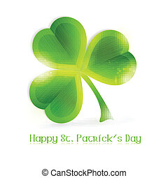 Three leaf vector clover - Three leafed shamrock isolated on...