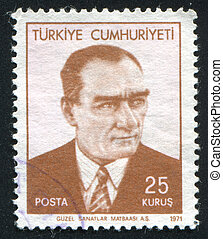 Kemal Ataturk - TURKEY - CIRCA 1971: stamp printed by...