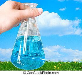chemical bulb on hand