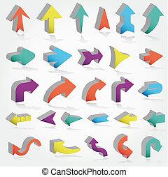 vector arrows set
