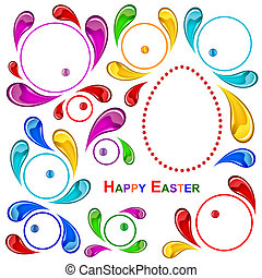 Happy Easter pattern - Colorful Easter background of the...