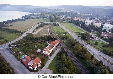 Aerial city view, Brno, Czech Republic