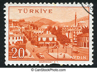 Aydin - TURKEY - CIRCA 1959: stamp printed by Turkey, shows...