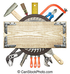 Construction background - Carpentry, construction...