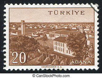 Adana - TURKEY - CIRCA 1959: stamp printed by Turkey, shows...