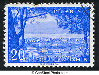 Izmir - TURKEY - CIRCA 1959: stamp printed by Turkey, shows...