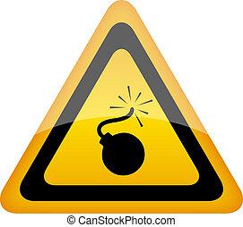Bomb warning sign
