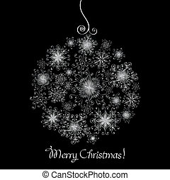 Black and White Christmas ball - Black and white Christmas...