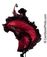 woman gipsy flamenco dancing dancer - one woman gypsy...